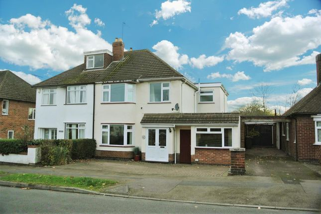Thumbnail Semi-detached house for sale in Greendale Road, Glen Parva, Leicester