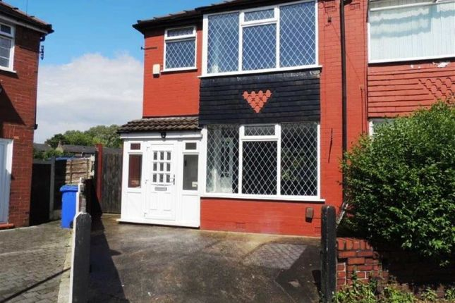 Thumbnail Semi-detached house for sale in Fowler Avenue, Abbey Hey, Manchester