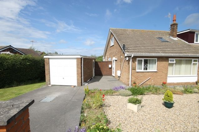 Thumbnail Semi-detached bungalow for sale in Outgaits Close, Hunmanby, Filey