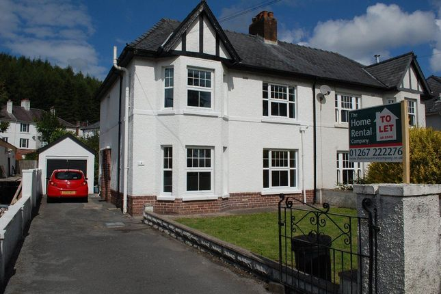 Thumbnail Property to rent in Dolgwili Road, Carmarthen