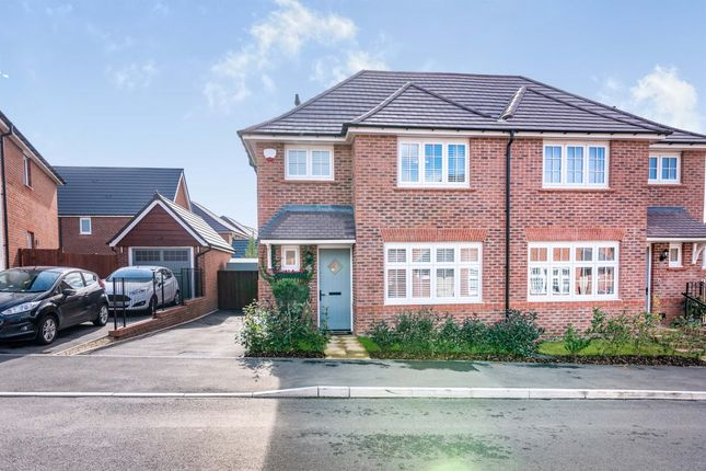 Thumbnail Semi-detached house for sale in Brake Crescent, Llanwern, Newport