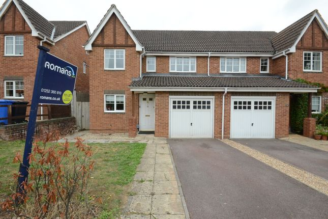Thumbnail Semi-detached house to rent in Ramsdell Road, Fleet