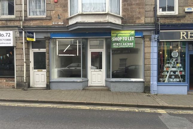 Retail premises to let in 70, Trelowarren Street, Camborne, Cornwall