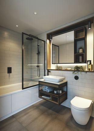 Bathroom CGI of Glenthorne Road, Hammersmith W6