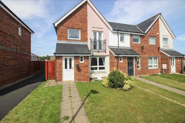 Thumbnail Semi-detached house to rent in Hindmarsh Drive, Barley Rise, Ashington