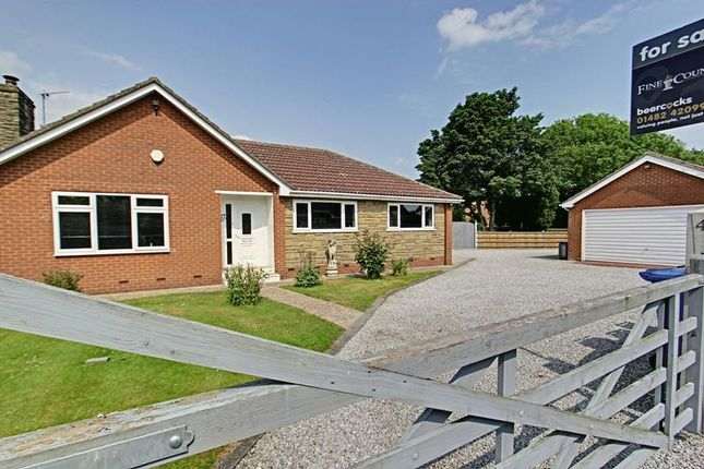 Thumbnail Detached bungalow for sale in New Village Road, Little Weighton, Cottingham