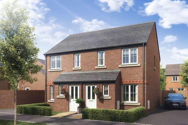 "Thumbnail Semi-detached house for sale in ""The Alnwick"" at Boughton Green Road, Northampton"