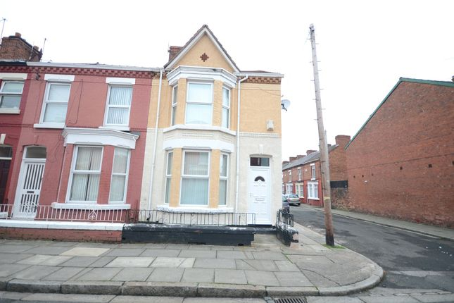 Thumbnail End terrace house for sale in Kempton Road, Wavertree, Liverpool