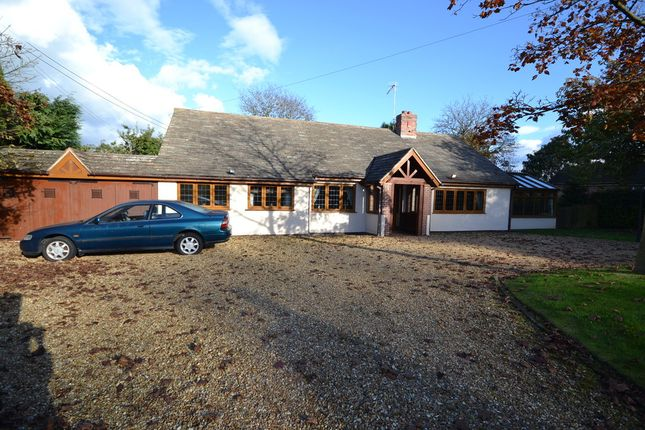 Thumbnail Detached bungalow for sale in The Woodside, Baldwins Gate, Newcastle-Under-Lyme