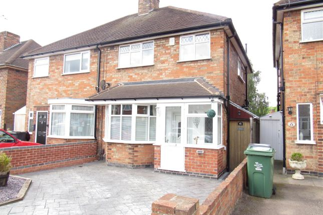 Thumbnail Semi-detached house for sale in Sandiacre Drive, Thurmaston, Leicester