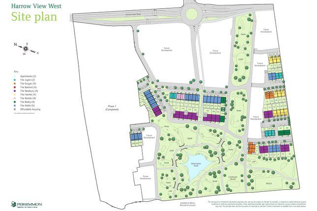Site Plan of Harrow View West, Harrow View, Harrow, Middlesex HA2