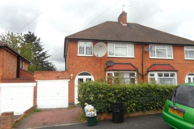 Thumbnail Semi-detached house to rent in Woodcroft Avenue, Handsworth Wood, Birmingham