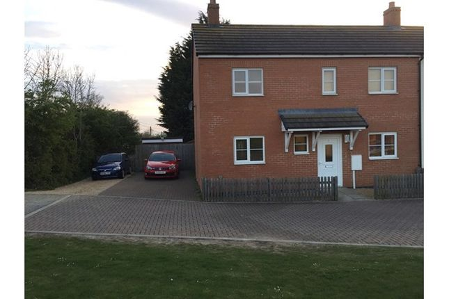 Thumbnail Semi-detached house for sale in 1, Pitfield Close, Bozeat, Northamptonshire