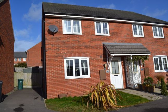 Thumbnail Semi-detached house to rent in Suffolk Way, Church Gresley, Swadlincote