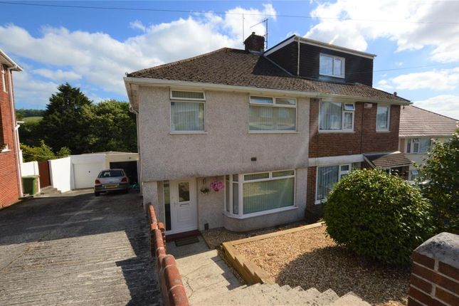 Thumbnail Semi-detached house for sale in Lynwood Avenue, Plymouth, Devon