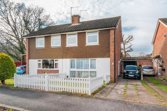 Thumbnail Semi-detached house for sale in Ivydene Close, Redhill