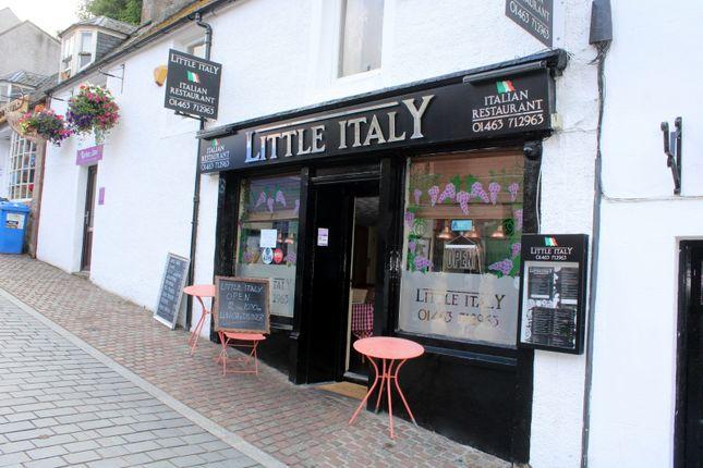Thumbnail Restaurant/cafe for sale in Little Italy Restaurant, 8 Stephen's Brae, Inverness