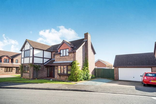 Thumbnail Detached house for sale in The Meadows, Messingham, Scunthorpe