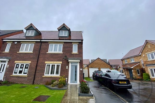 Thumbnail Semi-detached house for sale in Wakenshaw Drive, Newton Aycliffe
