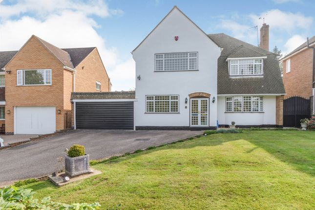 Thumbnail Detached house for sale in Manor Close, Oadby, Leicester