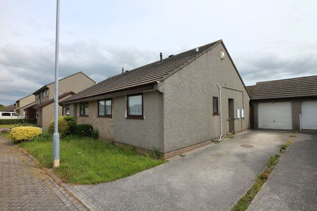 Thumbnail Semi-detached bungalow for sale in Huntersfield, Tolvaddon, Camborne