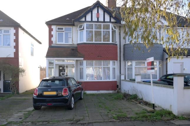 Semi-detached house for sale in The Fairway, Palmers Green, London, .