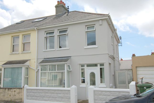 Thumbnail Semi-detached house for sale in West Down Road, Plymouth