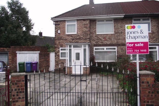 Thumbnail Semi-detached house for sale in Faringdon Close, Liverpool