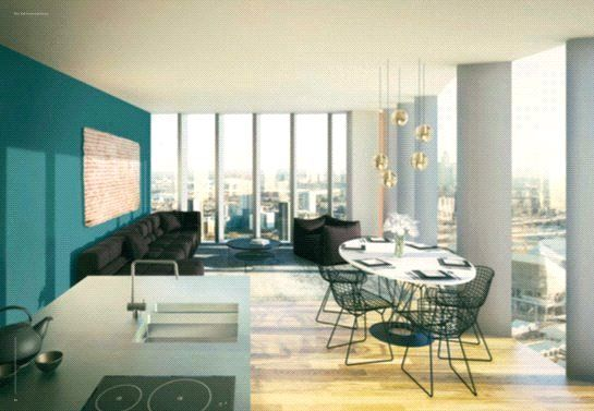 Thumbnail Flat for sale in Manhattan Loft Gardens, International Way, London