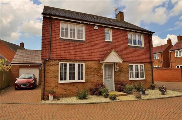 Thumbnail Detached house for sale in Chartwell Road, Kingsnorth, Ashford