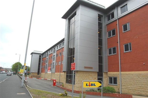 External of Kayley House, New Hall Lane, Preston PR1