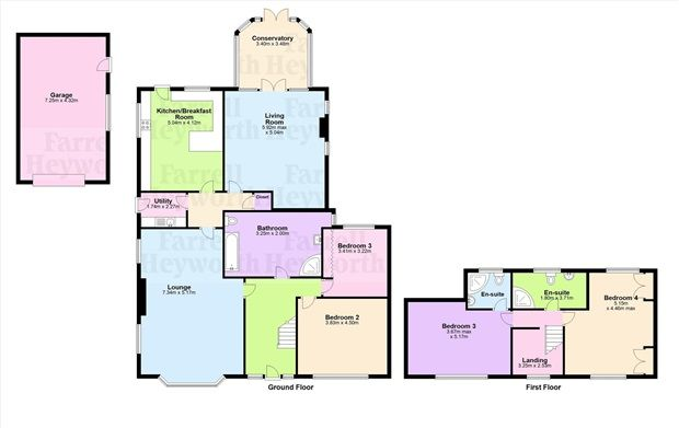Floor Plan of Orchard Lane, Preston PR4