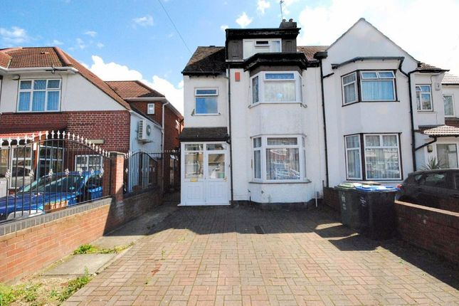Thumbnail Semi-detached house to rent in Norton Road, Wembley, Middlesex