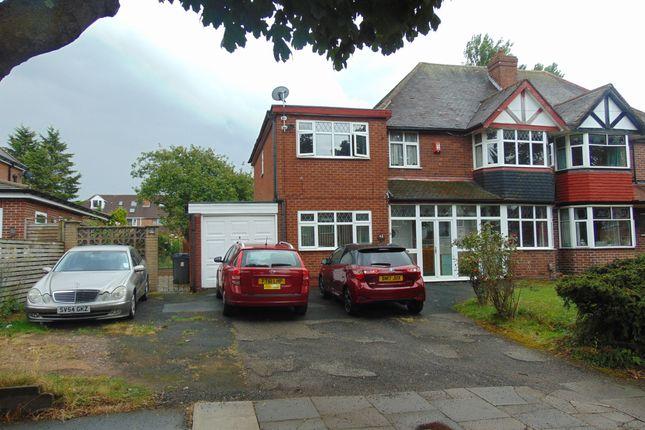 Thumbnail Semi-detached house for sale in Plaistow Avenue, Birmingham, West Midlands