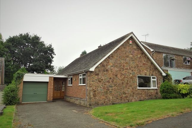 Thumbnail Detached bungalow for sale in Grey Crescent, Newtown Linford, Leicester