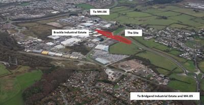 Thumbnail Land for sale in Development Land, Brackla Industrial Estate, Bridgend