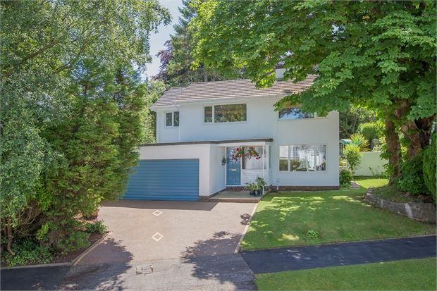 Thumbnail Detached house for sale in Courtenay Gardens, Wolborough Hill, Newton Abbot, Devon.
