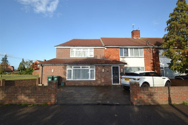 Thumbnail Semi-detached house for sale in St. Annes Avenue, Stanwell, Staines