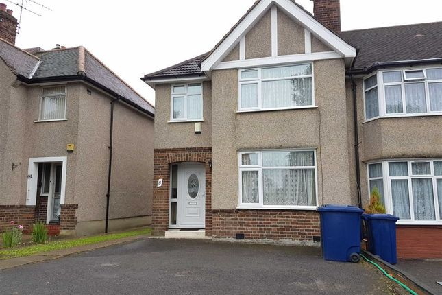 Thumbnail Semi-detached house to rent in Mellvile Road, Greenford, Middlesex