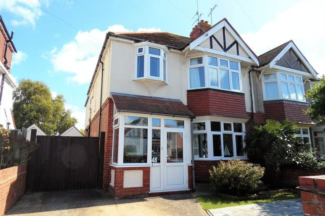 Thumbnail Semi-detached house for sale in Loxwood Avenue, Broadwater, Worthing
