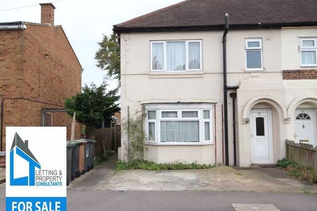 Thumbnail End terrace house for sale in Harefield Road, Luton