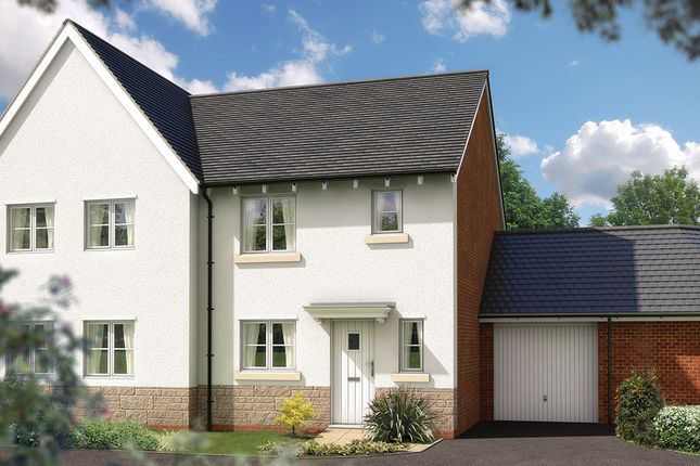 "Thumbnail Semi-detached house for sale in ""The Southwold"" at Bradley Bends, Devon, Bovey Tracey"