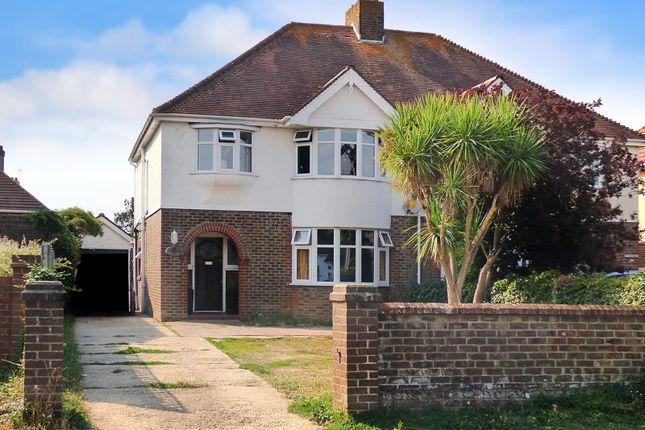Thumbnail Semi-detached house for sale in Mill Lane, Rustington, Littlehampton