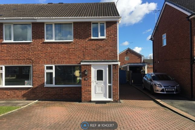 Thumbnail Semi-detached house to rent in Heron Crescent, Crewe