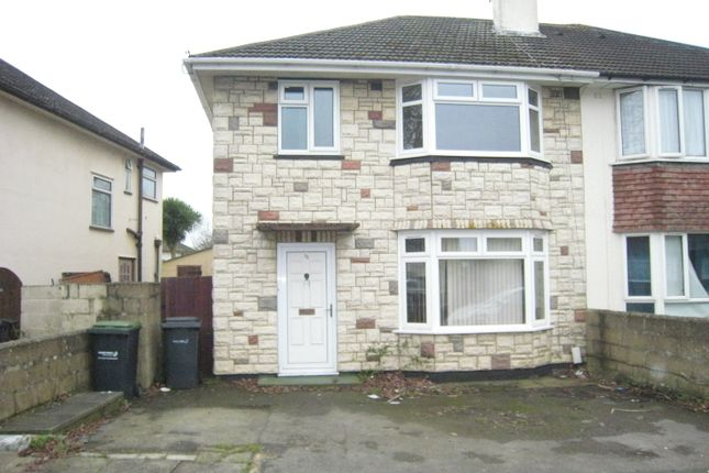 Thumbnail Semi-detached house to rent in Beauchamp Avenue, Bridgemary, Gosport