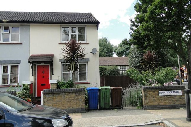 Thumbnail End terrace house to rent in Cranswick Road, London