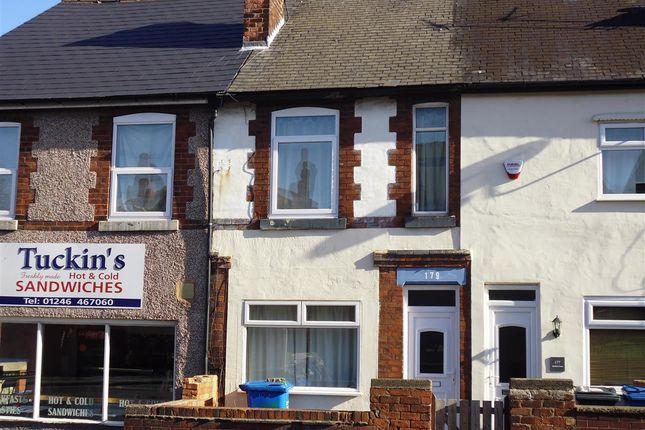 Thumbnail Terraced house for sale in Sheffield Road, Chesterfield