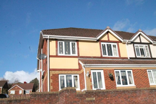 Thumbnail Semi-detached house for sale in North Rising, Pontlottyn, Caerphilly Borough