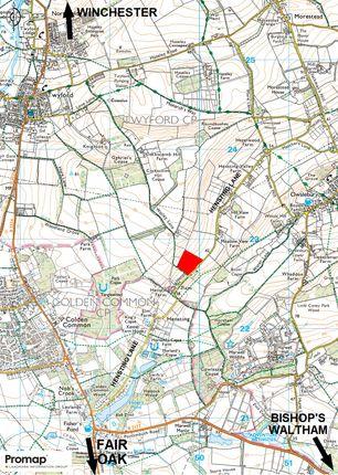 Location Plan of Hensting Lane, Winchester SO21