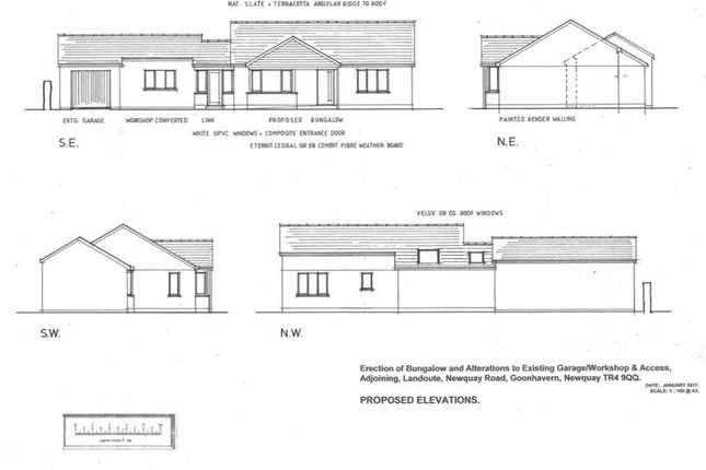 Thumbnail Land for sale in Newquay Road, Goonhavern, Truro